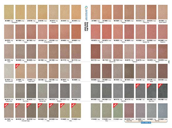 Concrete Colour Chart